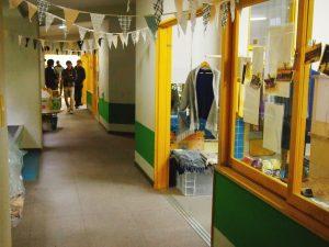 廊下、保育室