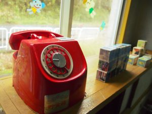 レトロな赤電話