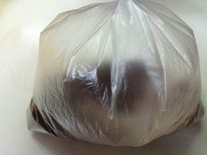 粉類をしゃかしゃかするビニール袋